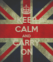 KEEP CALM AND CARRY ON - Personalised Poster large