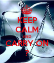 KEEP CALM AND CARRY ON ? - Personalised Poster small