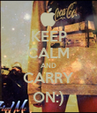 KEEP CALM AND CARRY ON:) - Personalised Poster large