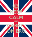 KEEP CALM AND CARRY  ON BRO - Personalised Poster large