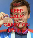 KEEP CALM AND CARRY ON DIVING - Personalised Poster large