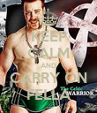 KEEP CALM AND CARRY ON FELLA - Personalised Poster large