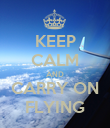 KEEP CALM AND CARRY ON FLYING - Personalised Poster large