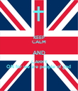 KEEP CALM AND CARRY ON for we are people of god  - Personalised Poster large