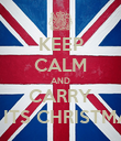 KEEP CALM AND CARRY ON ITS CHRISTMASS - Personalised Poster large