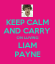 KEEP CALM AND CARRY  ON LUVING LIAM PAYNE - Personalised Poster large