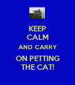 KEEP CALM AND CARRY ON PETTING THE CAT! - Personalised Poster large