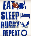 KEEP CALM AND CARRY ON PLAYING RUGBY - Personalised Poster large