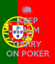 KEEP CALM AND CARRY ON POKER - Personalised Poster large