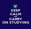 KEEP CALM AND CARRY ON STUDYING - Personalised Poster large
