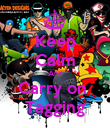 Keep Calm And Carry on  Tagging - Personalised Poster small
