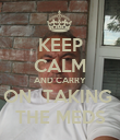 KEEP CALM AND CARRY ON  TAKING  THE MEDS - Personalised Poster large