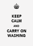 KEEP CALM AND CARRY ON WASHING - Personalised Poster large