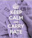 KEEP CALM AND CARRY RATE - Personalised Poster large