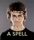KEEP CALM AND CAST A SPELL - Personalised Poster large