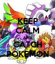 KEEP CALM AND CATCH POKEMON - Personalised Poster large