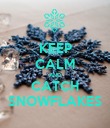 KEEP CALM AND CATCH SNOWFLAKES - Personalised Poster large