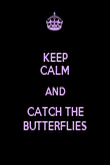 KEEP CALM AND CATCH THE BUTTERFLIES - Personalised Poster large