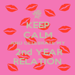 KEEP CALM AND CELEBRATE MY  2nd YEAR RELATION - Personalised Poster large