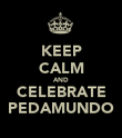 KEEP CALM AND CELEBRATE PEDAMUNDO - Personalised Poster large