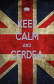 KEEP CALM AND CERDEA  - Personalised Poster large