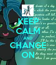 KEEP CALM AND CHANGE ON - Personalised Poster large