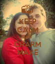 KEEP CALM AND CHARM MAKE - Personalised Poster large