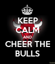 KEEP CALM AND CHEER THE BULLS - Personalised Poster small