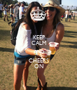 KEEP CALM AND CHEERS ON - Personalised Poster large