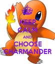 KEEP CALM AND CHOOSE CHARMANDER - Personalised Poster large