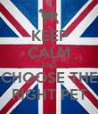 KEEP CALM AND CHOOSE THE RIGHT PET - Personalised Poster large
