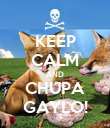 KEEP CALM AND CHUPA GAYLO! - Personalised Poster large