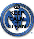 KEEP CALM AND CLEAN  - Personalised Poster large