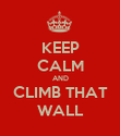 KEEP CALM AND CLIMB THAT WALL - Personalised Poster large