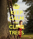 KEEP CALM AND CLIMB TREES - Personalised Poster large