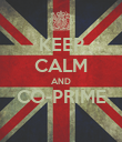 KEEP CALM AND CO-PRIME  - Personalised Poster large