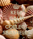 KEEP CALM AND COLLECT SEASHELLS - Personalised Poster large