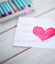 KEEP CALM AND COLOUR IN SOMETHING CUTE! - Personalised Poster large