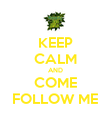 KEEP CALM AND COME FOLLOW ME - Personalised Poster large