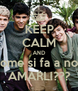 KEEP CALM AND come si fa a non AMARLI??? - Personalised Poster large