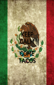 KEEP CALM AND COME TACOS - Personalised Poster large