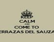 KEEP CALM AND COME TO  TERRAZAS DEL SAUZAL - Personalised Poster large