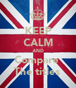 KEEP CALM AND Compare  The titles  - Personalised Poster large