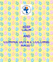 KEEP CALM AND COMPRA UOVA E COLOMBE AAGD ! - Personalised Poster large