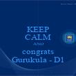 KEEP CALM AND congrats Gurukula - D1 - Personalised Poster large
