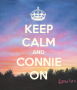 KEEP CALM AND CONNIE ON - Personalised Large Wall Decal