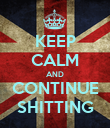 KEEP CALM AND CONTINUE SHITTING - Personalised Poster large