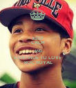 KEEP CALM AND CONTINUE TO LOVE  ROC ROYAL - Personalised Poster large