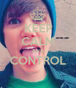 KEEP CALM AND CONTROL  - Personalised Poster large