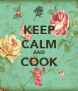 KEEP CALM AND COOK  - Personalised Poster large